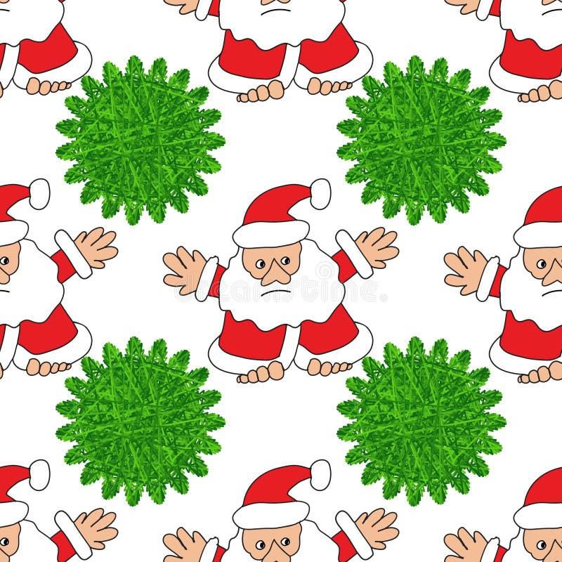 δέντρο santa Claus Χριστουγέννων απεικόνιση αποθεμάτων