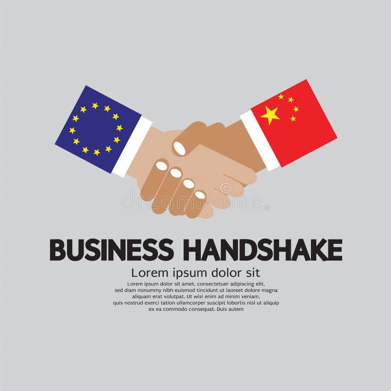 Ένωση και Κίνα επιχειρησιακών χειραψιών Ευρωπαϊκή απεικόνιση αποθεμάτων