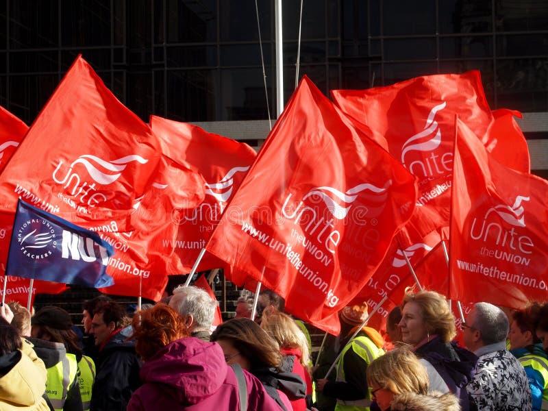 ένωση συνάθροισης σημαιών στοκ εικόνα με δικαίωμα ελεύθερης χρήσης