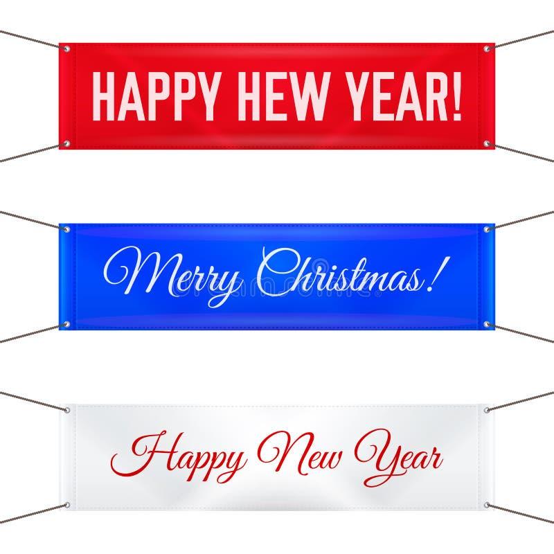 Ένωση των υφαντικών εμβλημάτων με τα στρόφια Χαρούμενα Χριστούγεννα και καλή χρονιά 2020 r απεικόνιση αποθεμάτων