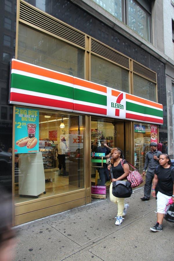 7-ένδεκα, Νέα Υόρκη στοκ φωτογραφίες