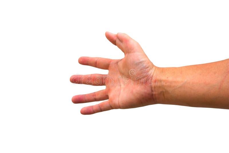 Έξι δάχτυλα σε ετοιμότητα ένα στοκ εικόνες