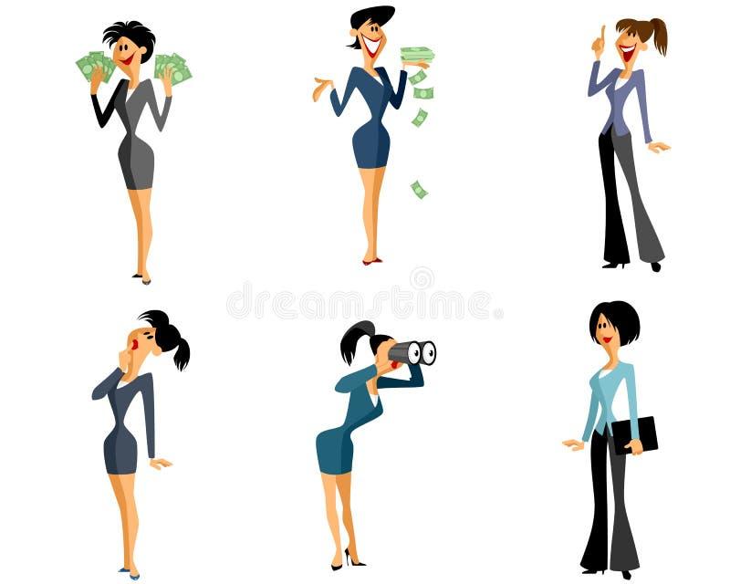 Έξι επιχειρηματίες καθορισμένες ελεύθερη απεικόνιση δικαιώματος