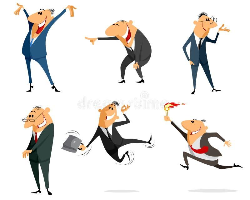 Έξι επιχειρηματίες καθορισμένοι ελεύθερη απεικόνιση δικαιώματος