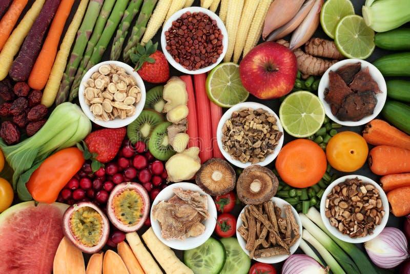 Έξοχα τρόφιμα για τις καλές υγείες στοκ φωτογραφίες