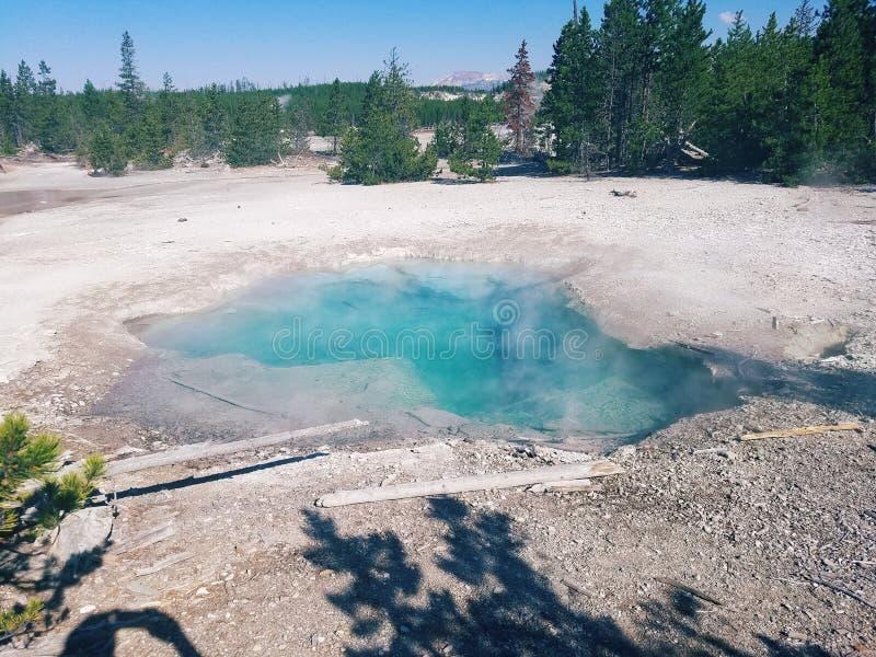 Έξοχη καυτή λίμνη ηφαιστείων στοκ φωτογραφίες με δικαίωμα ελεύθερης χρήσης