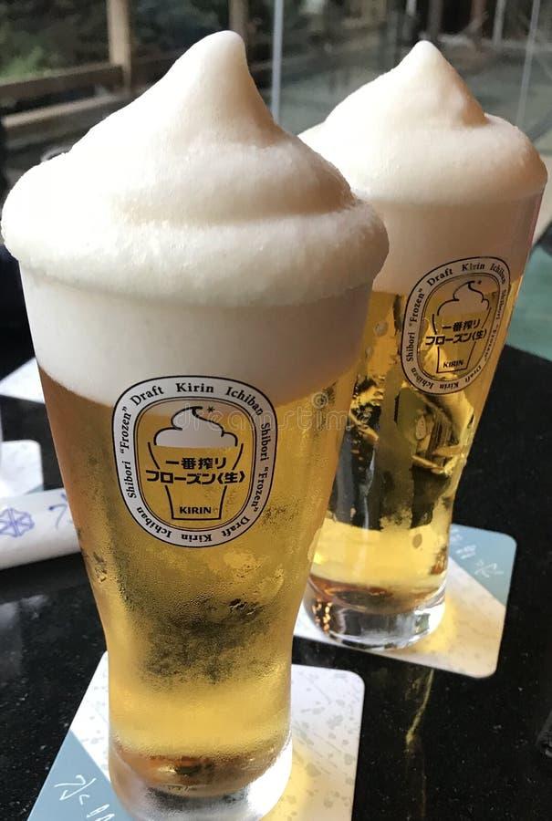 Έξοχη κρύα μπύρα παγωτού Kirin στοκ εικόνα