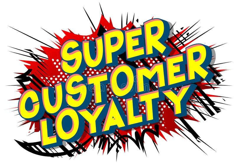 Έξοχη πίστη πελατών - λέξεις ύφους κόμικς απεικόνιση αποθεμάτων