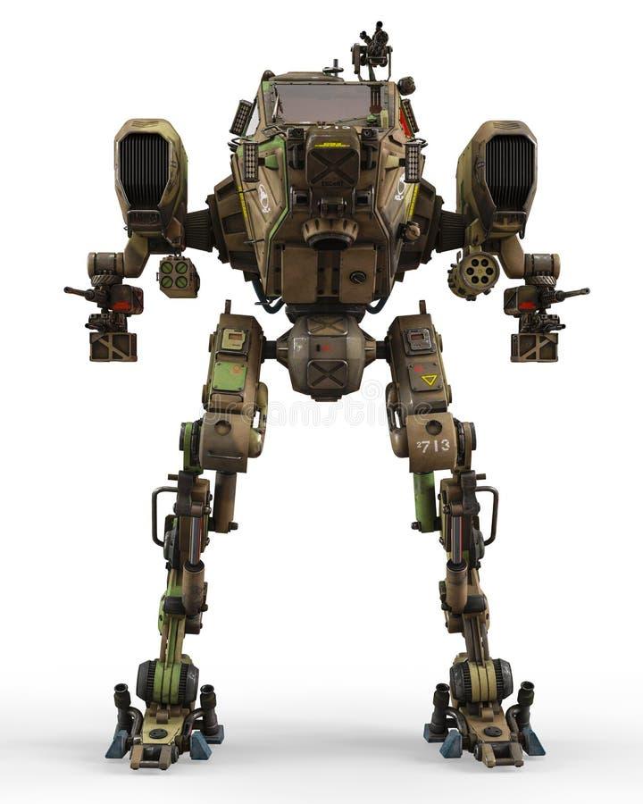 Έξοχη πολεμική μηχανή στην πράσινη κάλυψη διανυσματική απεικόνιση