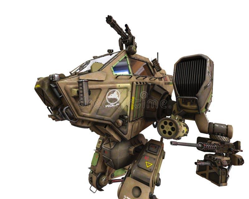 Έξοχη πολεμική μηχανή στην πράσινη κάλυψη απεικόνιση αποθεμάτων