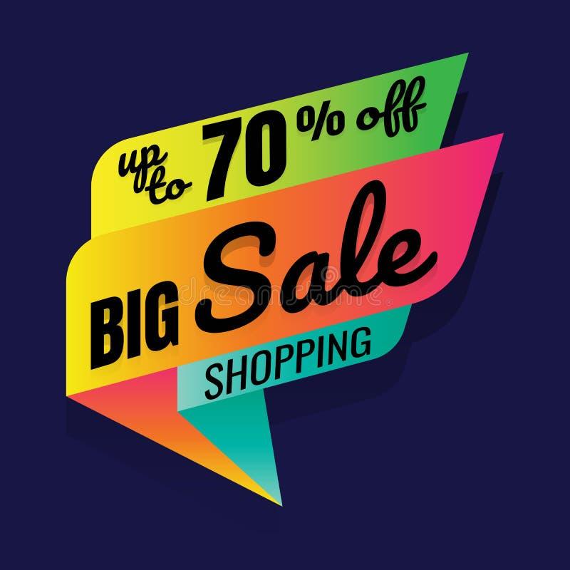 Έξοχη πώληση, αυτό το ειδικό έμβλημα προσφοράς Σαββατοκύριακου, μέχρι 70% μακριά απεικόνιση αποθεμάτων