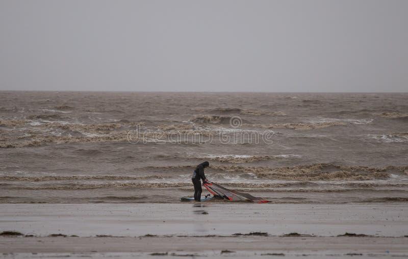Έξοχη φοράδα Kitesurfing του Weston στοκ εικόνες