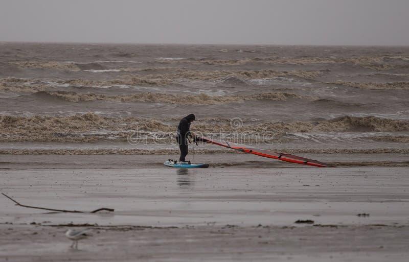 Έξοχη φοράδα Kitesurfing του Weston στοκ φωτογραφίες με δικαίωμα ελεύθερης χρήσης