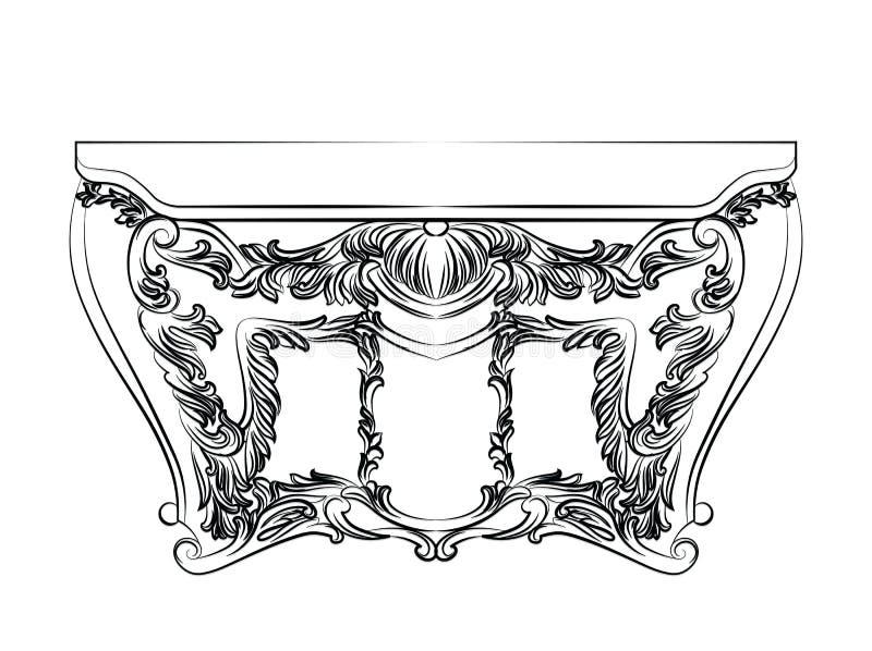 Έξοχος μυθικός αυτοκρατορικός μπαρόκ θωρακικός πίνακας διανυσματική απεικόνιση