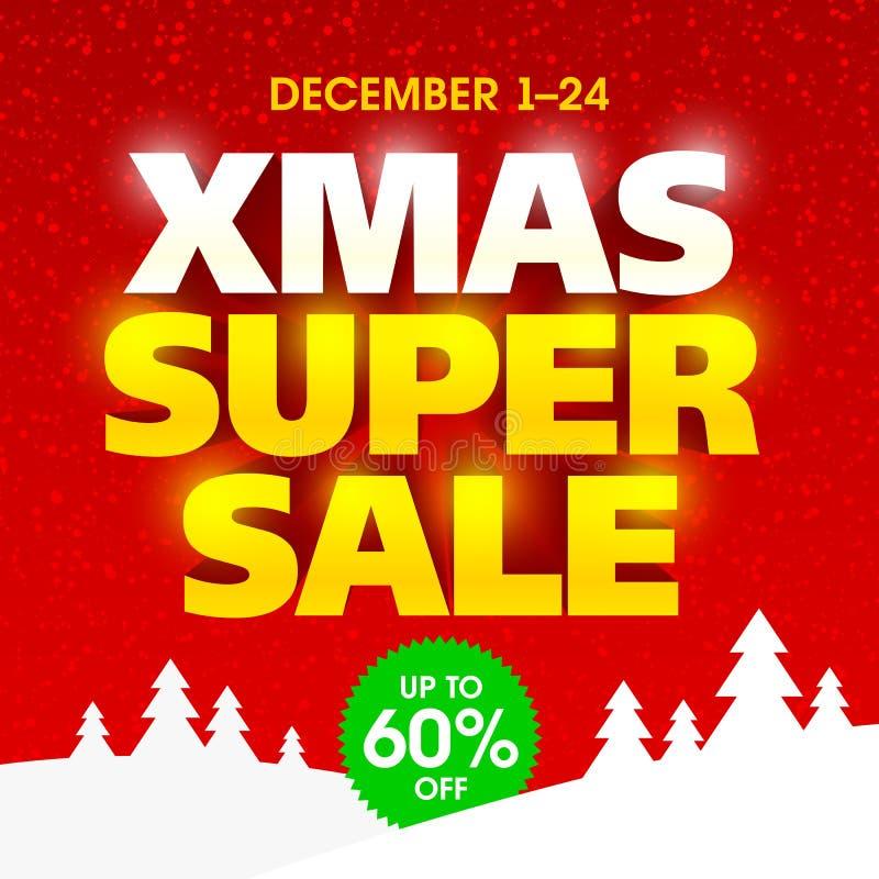 Έξοχο έμβλημα πώλησης Χριστουγέννων απεικόνιση αποθεμάτων