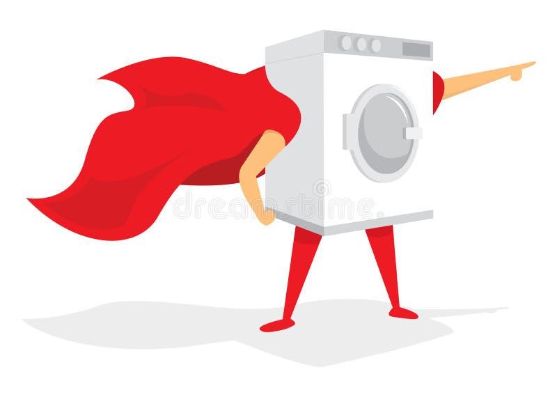 Έξοχο πλυντήριο ηρώων με το ακρωτήριο ελεύθερη απεικόνιση δικαιώματος