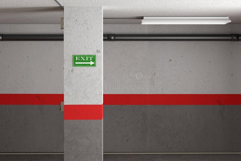 Έξοδος γκαράζ απεικόνιση αποθεμάτων