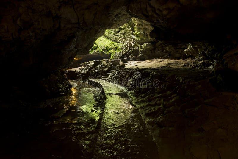 Έξοδος ιχνών σπηλιών στοκ εικόνες