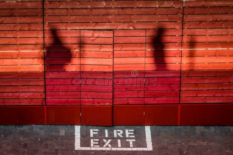 Έξοδος πυρκαγιάς στοκ εικόνες με δικαίωμα ελεύθερης χρήσης