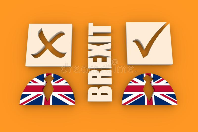 Έξοδος της Μεγάλης Βρετανίας από τη σχετική εικόνα της Ευρωπαϊκής Ένωσης ελεύθερη απεικόνιση δικαιώματος