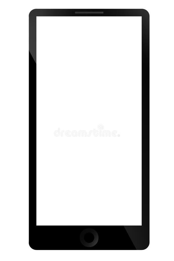 Έξυπνη έννοια τηλεφωνικών εικόνων στο άσπρο υπόβαθρο με το ψαλίδισμα PA απεικόνιση αποθεμάτων