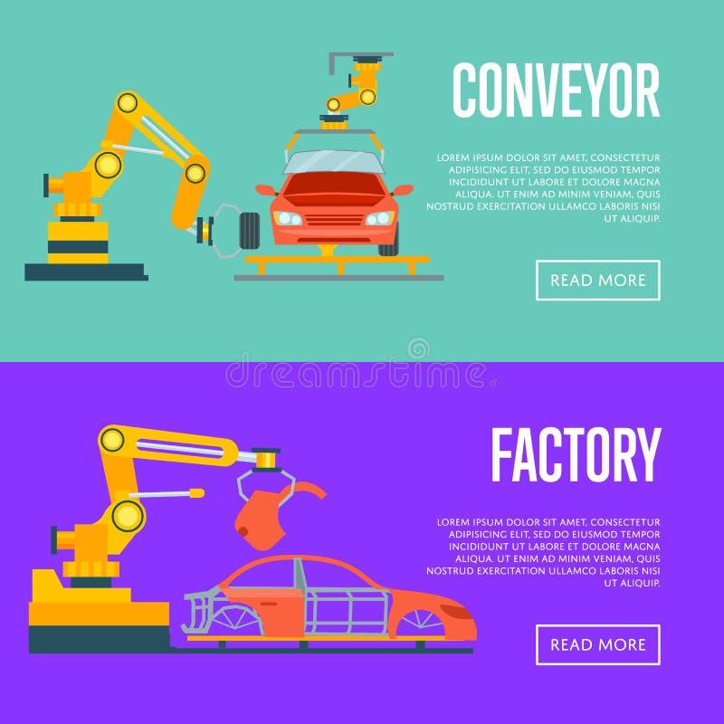 Έξυπνη ρομποτική αυτοκίνητη γραμμή συνελεύσεων ελεύθερη απεικόνιση δικαιώματος
