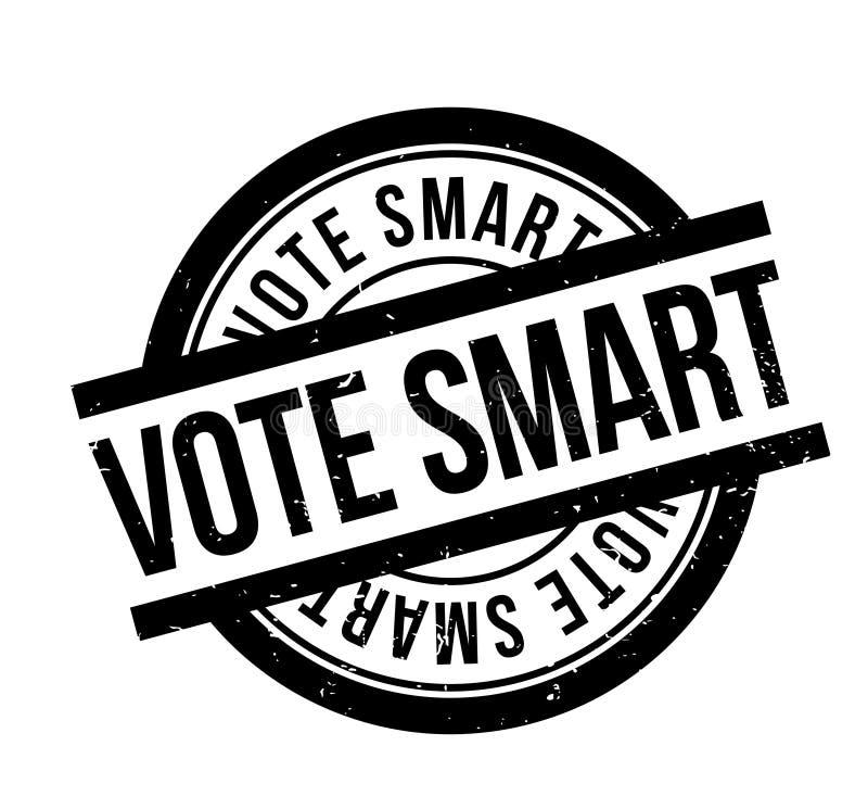 Έξυπνη σφραγίδα ψηφοφορίας διανυσματική απεικόνιση