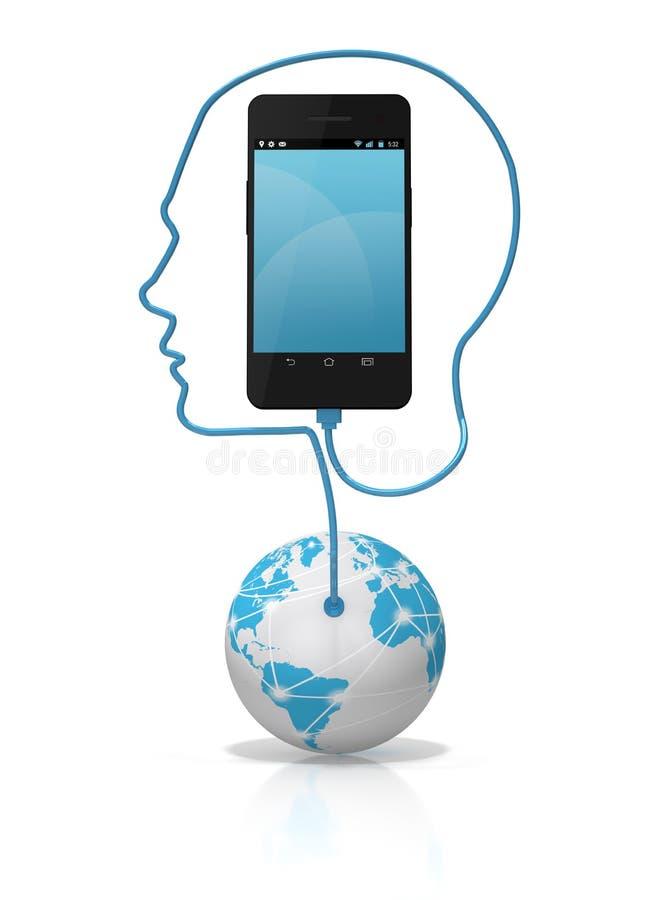 Έξυπνη τηλεφωνική σφαιρική σύνδεση ελεύθερη απεικόνιση δικαιώματος
