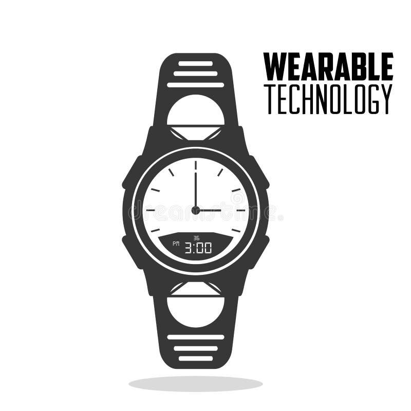 Έξυπνη φορετή τεχνολογία ρολογιών accesorie απεικόνιση αποθεμάτων