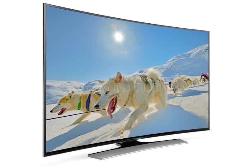 Έξυπνη TV καμπυλών στοκ φωτογραφία με δικαίωμα ελεύθερης χρήσης