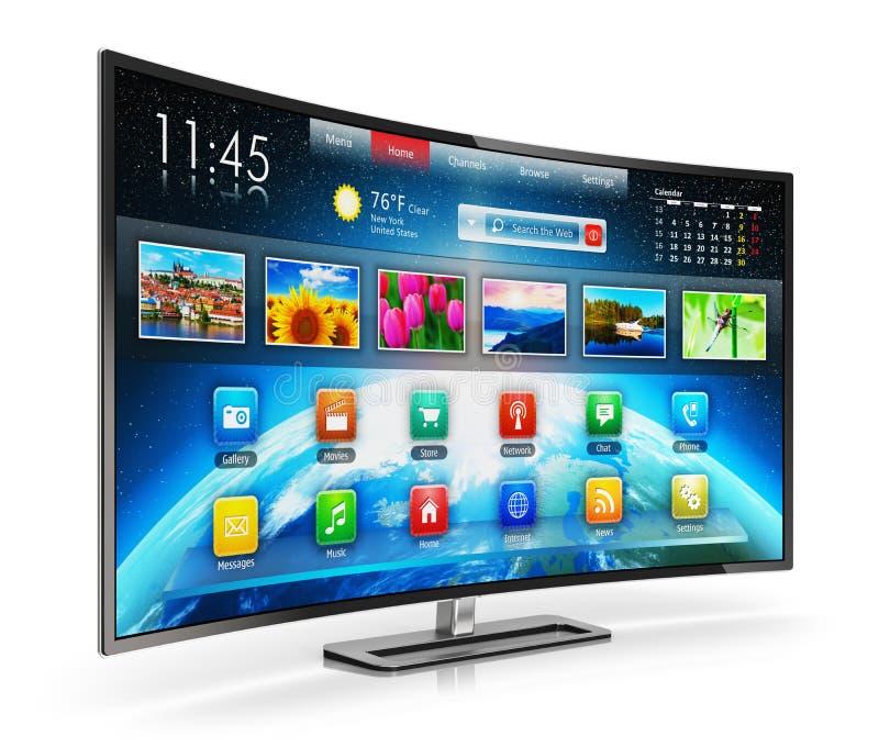 Έξυπνη TV διανυσματική απεικόνιση