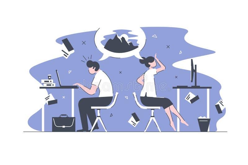 Έξυπνοι εργαζόμενοι γραφείων απεικόνιση αποθεμάτων