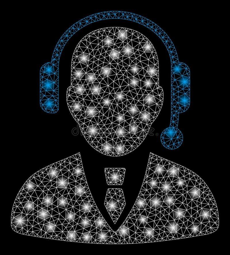 Έξυπνος αποστολέας δικτύων πλέγματος με τα ελαφριά σημεία διανυσματική απεικόνιση