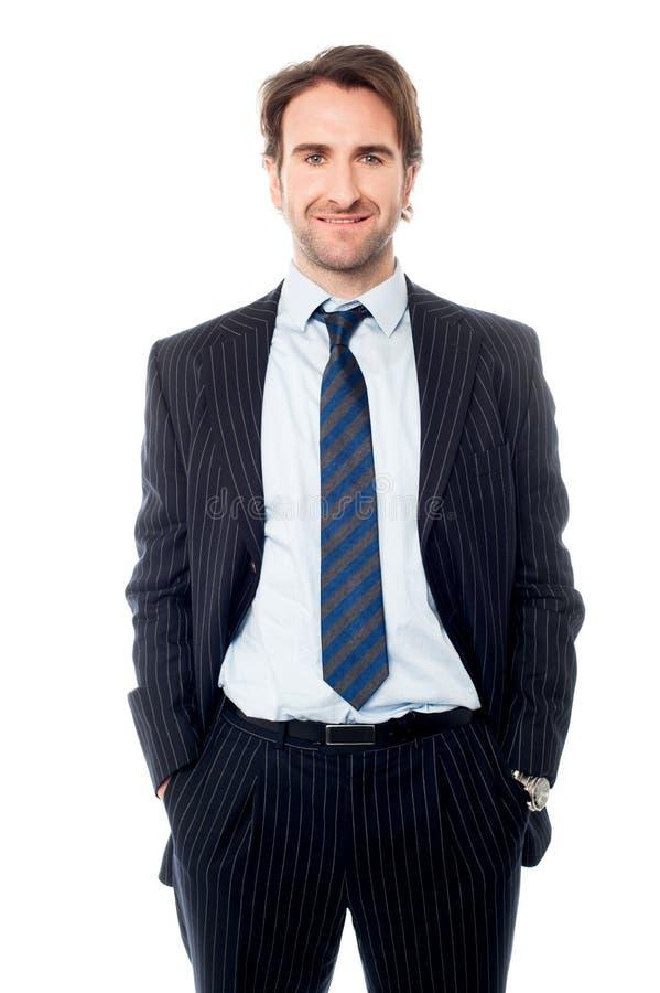 Έξυπνος αρσενικός επιχειρησιακός επαγγελματίας στοκ εικόνες με δικαίωμα ελεύθερης χρήσης