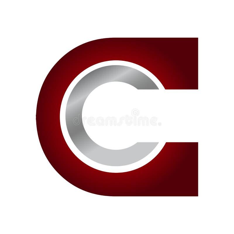 Έξυπνο δημιουργικό γράμμα Γ σημείου σημείων έξυπνο και σύνολο λογότυπων ιδέας ελεύθερη απεικόνιση δικαιώματος