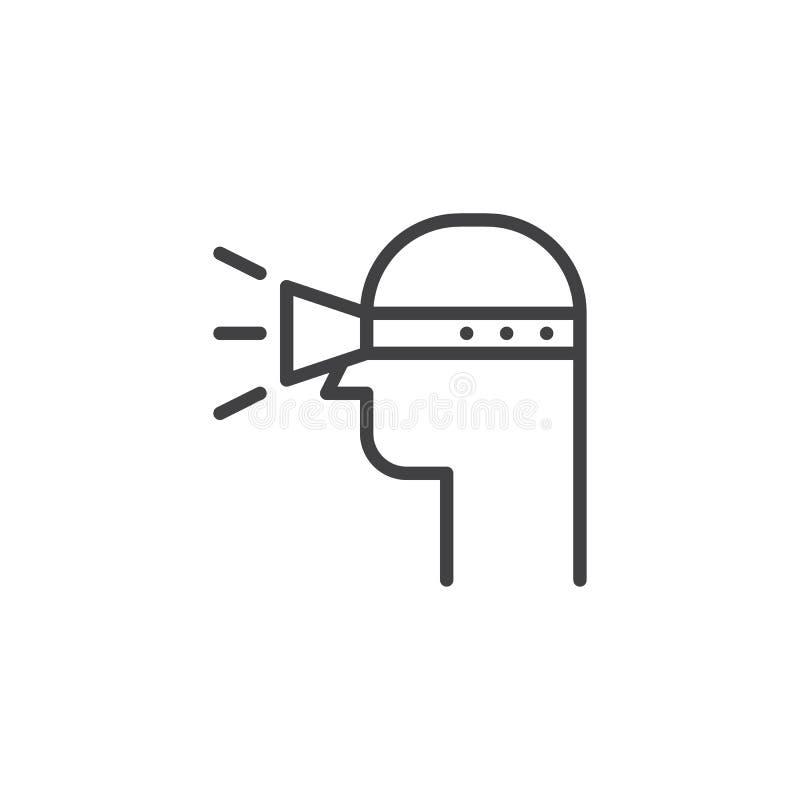 Έξυπνο εικονίδιο περιλήψεων τεχνολογίας γυαλιών χρηστών vr ελεύθερη απεικόνιση δικαιώματος