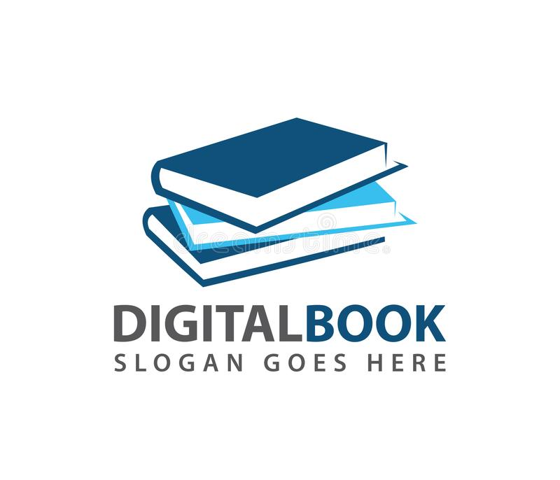 Έξυπνο εκμάθησης εκπαίδευσης βιβλίων καταστημάτων σχέδιο λογότυπων καταστημάτων διανυσματικό διανυσματική απεικόνιση