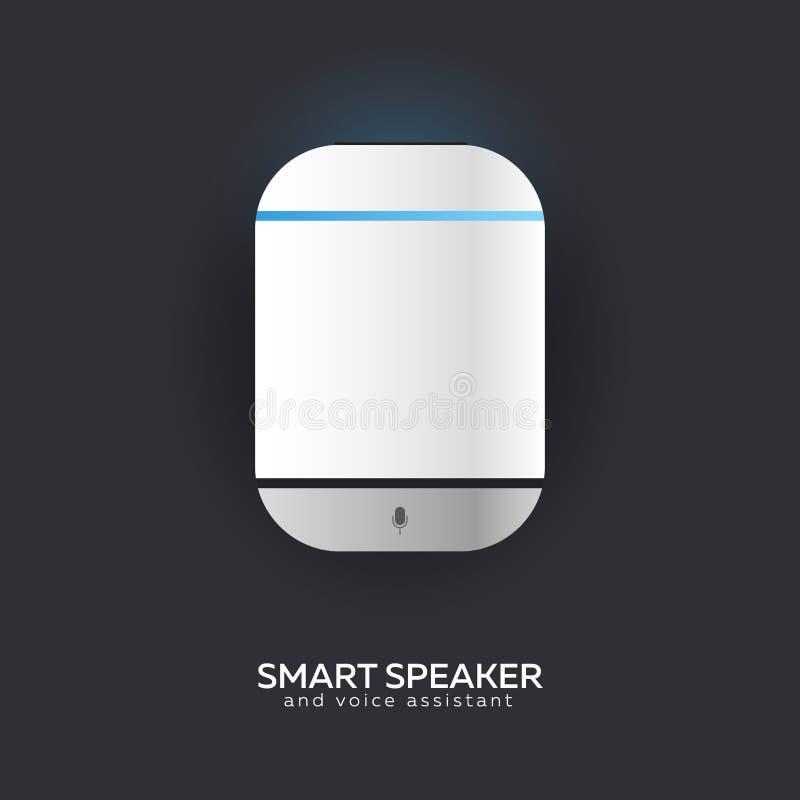 Έξυπνο ηχείο με έλεγχο φωνής Φωνητικός έλεγχος του έξυπνου σπιτιού Τεχνολογία IoT απεικόνιση αποθεμάτων