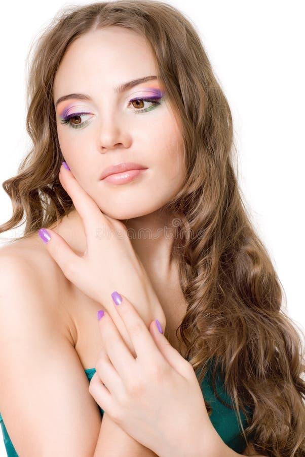 έξυπνο κορίτσι makeup στοκ εικόνα