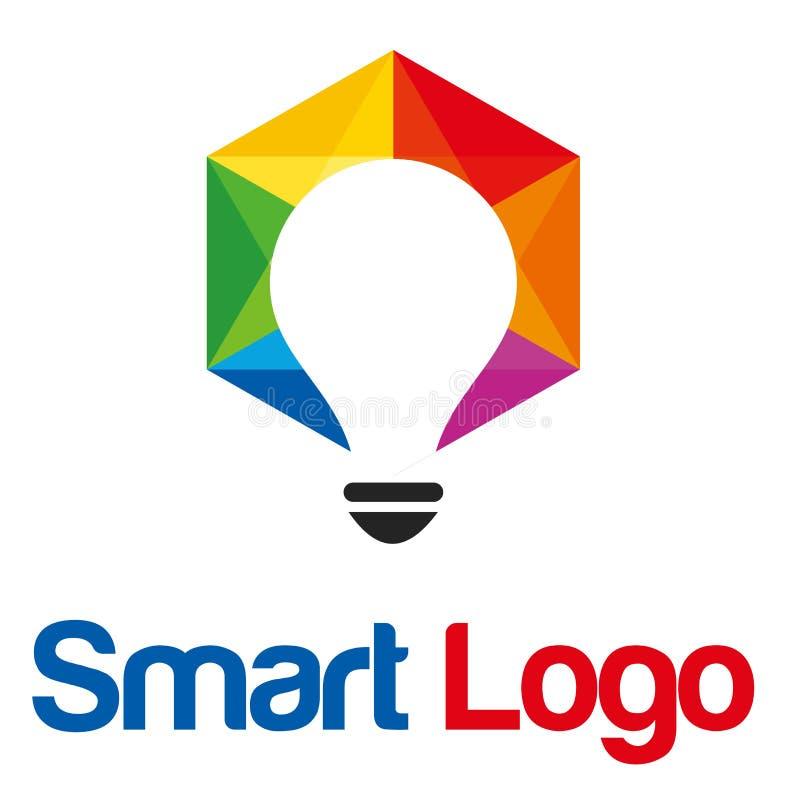 Έξυπνο λογότυπο λαμπτήρων στοκ φωτογραφίες με δικαίωμα ελεύθερης χρήσης