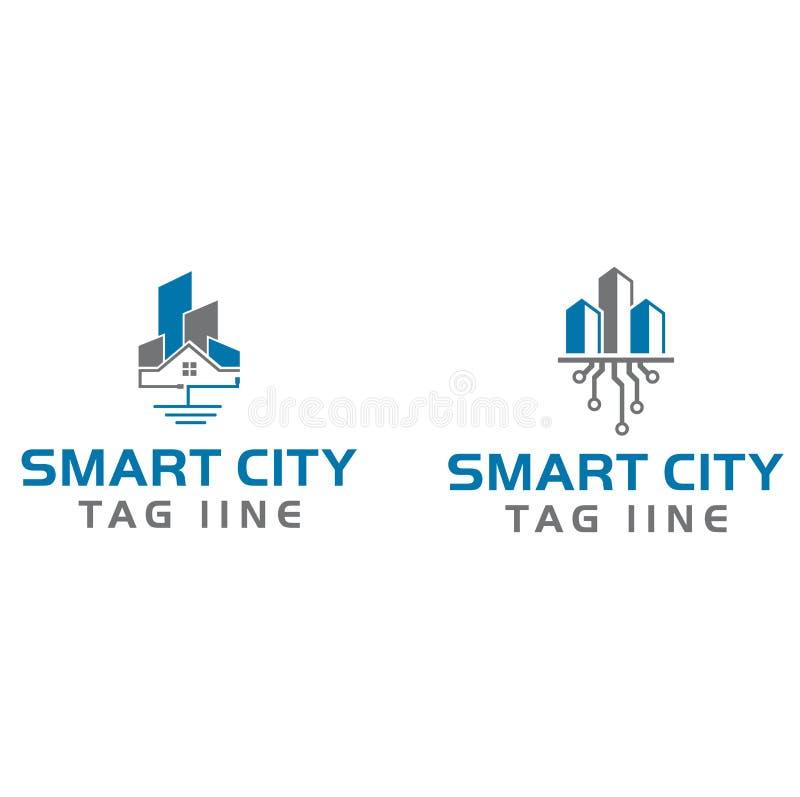 Έξυπνο λογότυπο πόλεων στοκ εικόνες με δικαίωμα ελεύθερης χρήσης