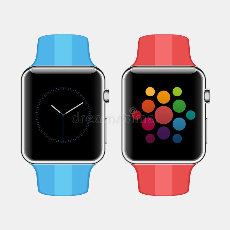 Έξυπνο ρολόι διανυσματική απεικόνιση