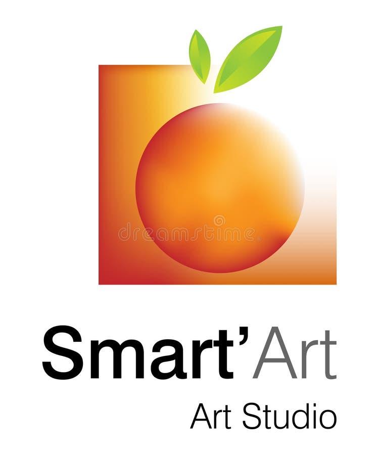 έξυπνο στούντιο λογότυπων τέχνης απεικόνιση αποθεμάτων