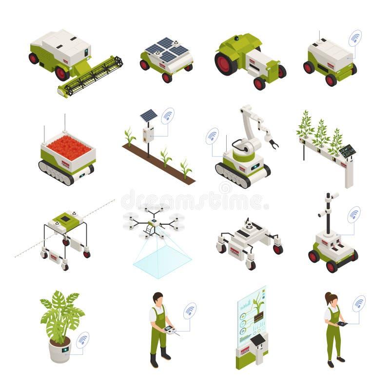 Έξυπνο σύνολο εικονιδίων καλλιέργειας ελεύθερη απεικόνιση δικαιώματος