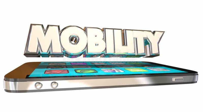 Έξυπνο τηλέφωνο κυττάρων κινητικότητας κινητό απεικόνιση αποθεμάτων