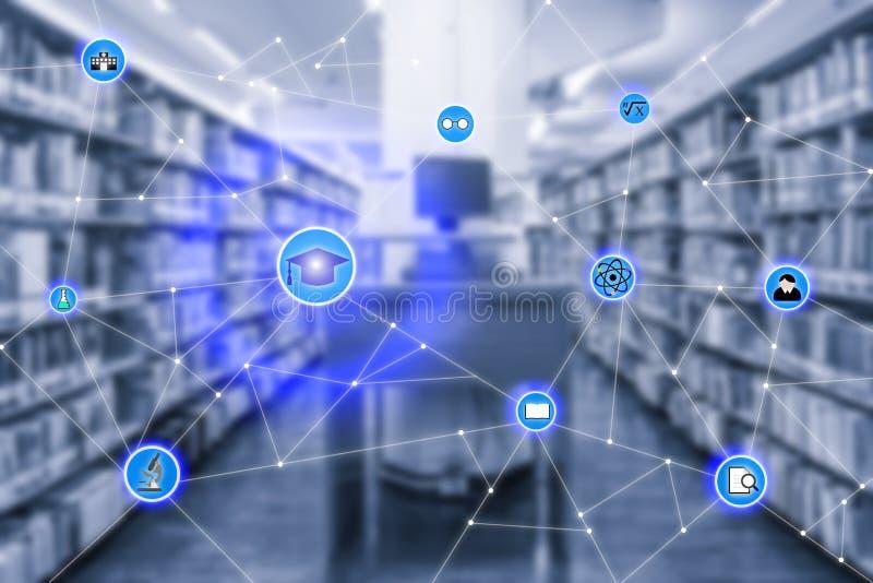 Έξυπνο conection δικτύων εκπαίδευσης και εικονιδίων εκπαίδευσης withcompute στοκ εικόνες με δικαίωμα ελεύθερης χρήσης