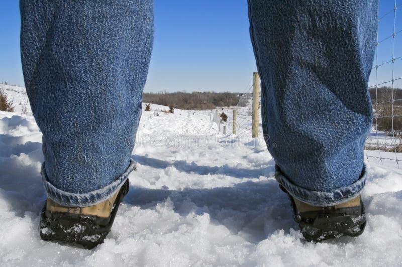 έξω περίπατος χιονιού στοκ εικόνα με δικαίωμα ελεύθερης χρήσης
