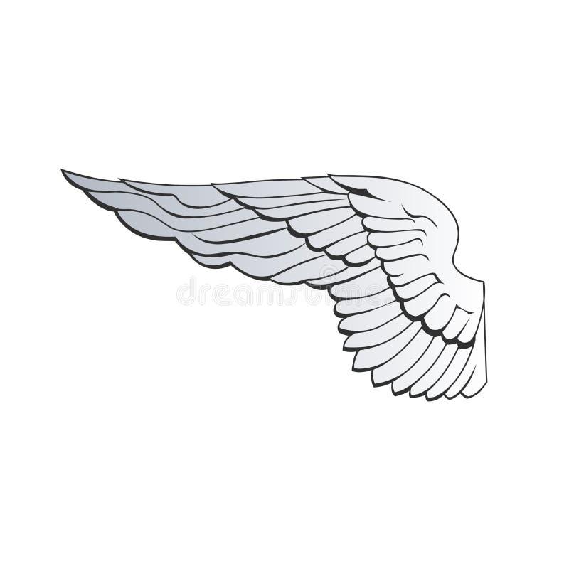 έξω φτερό αετών ή φτερό αγγέλου r διανυσματική απεικόνιση