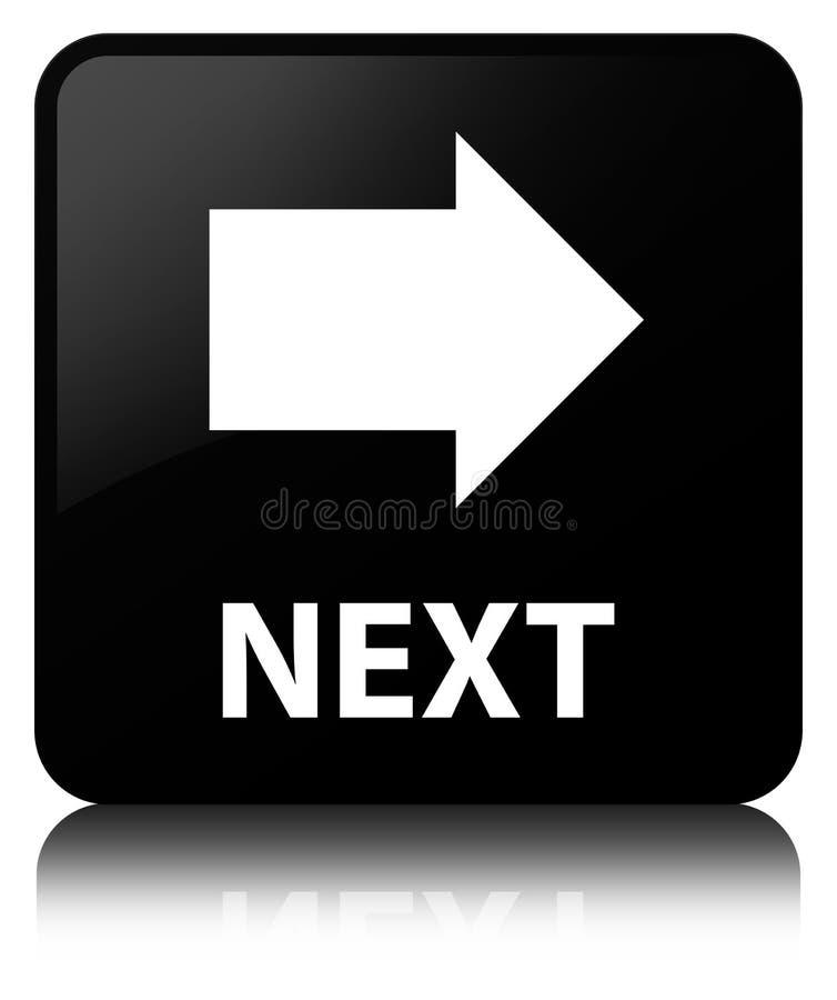 Έπειτα μαύρο τετραγωνικό κουμπί ελεύθερη απεικόνιση δικαιώματος