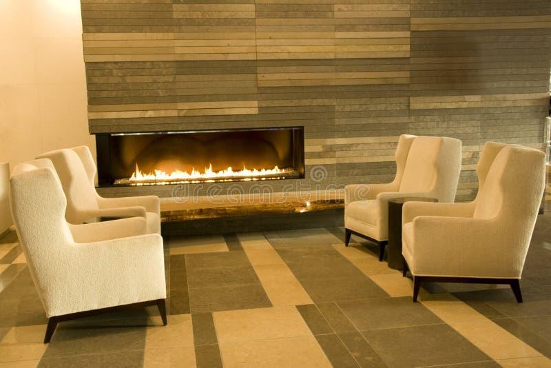Καθιστικό λόμπι ξενοδοχείων στοκ φωτογραφία